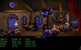 Guybrush in the Pirate Bar