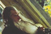 Gandalf Enjoys a Post-Meal Smoke
