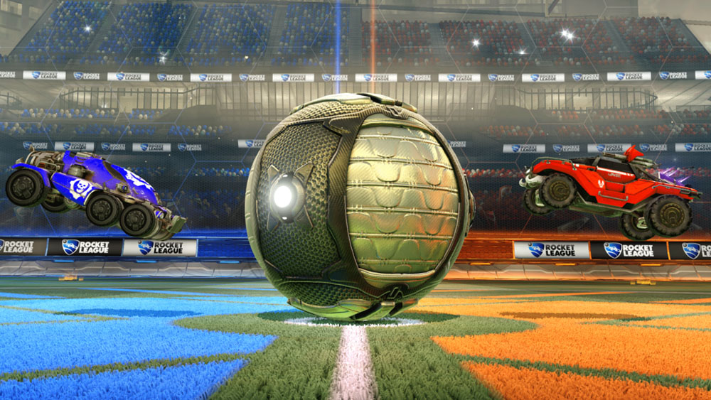 In Rocket League on Xbox One, players can drive both Gears of War AND Halo-themed Battle-Cars.