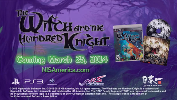 New trailer for The Witch and the Hundred Knight!