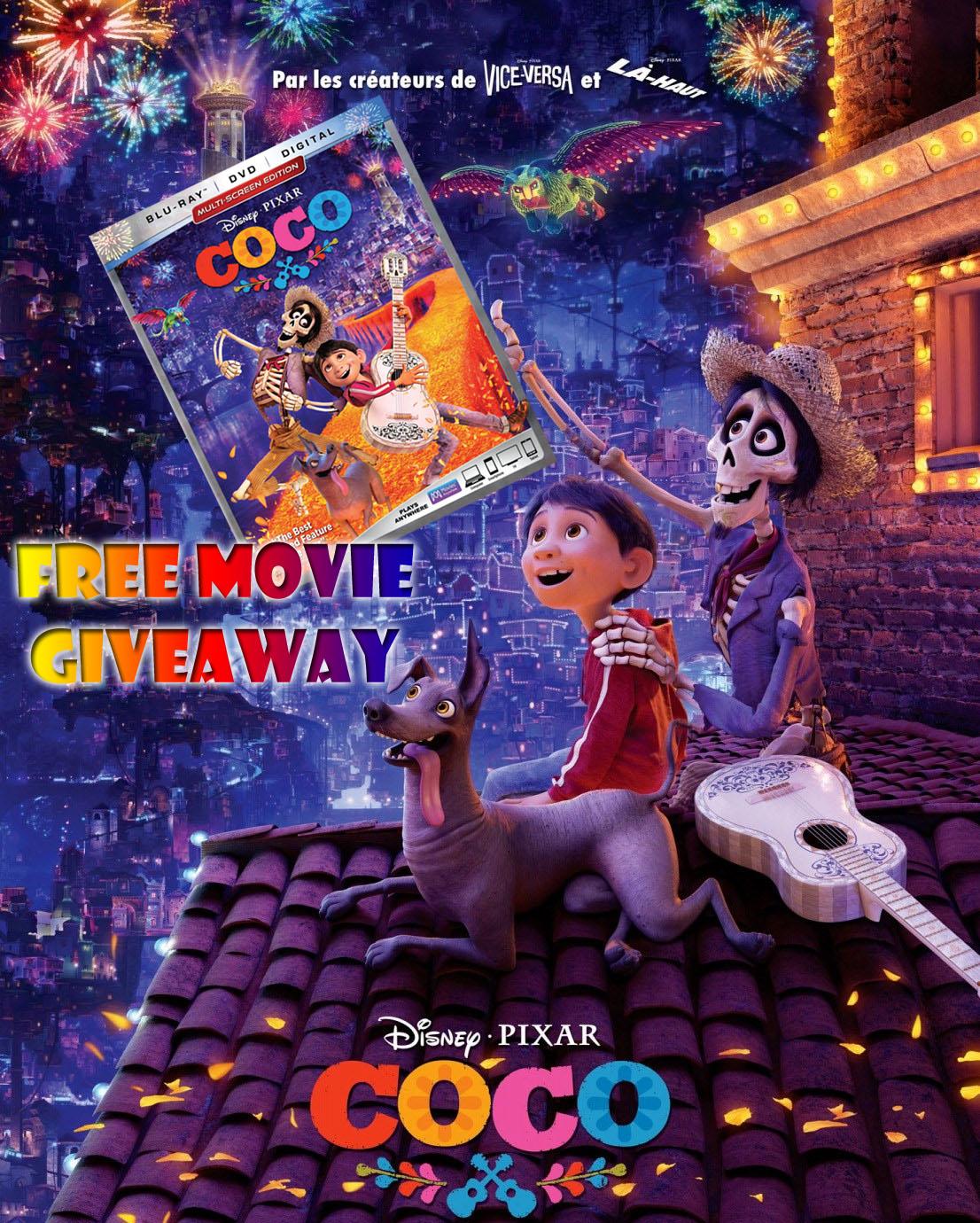 Disney-PIXAR COCO Movie Giveaway