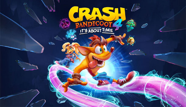 CRASH BANDICOOT 4: IT'S ABOUT TIME IS AVAILABLE NOW